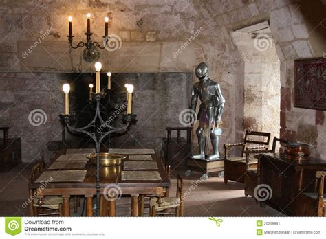 white knights room room stock image image of armour chateau 20258891