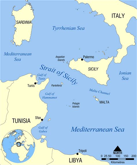 sicily on map file strait of sicily map png