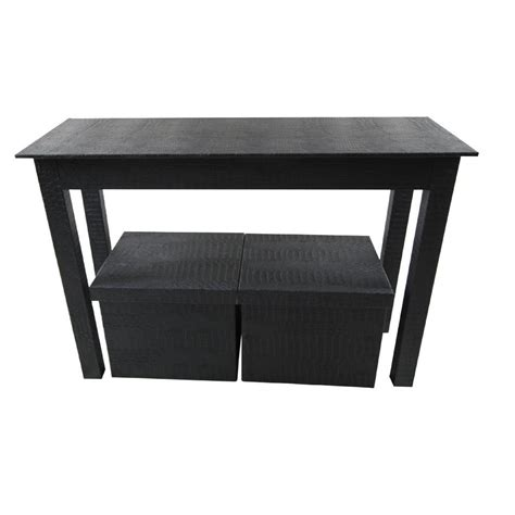 black sofa table with storage home decorators collection oxford black storage console
