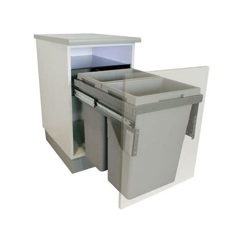 poubelle de cuisine coulissante monobac poubelle bacs 70l gris clair ilovedetails com