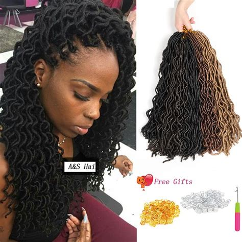 Styles Of Kinky Braids To Pack | top beauty crochet braids soft curly faux locs synthetic