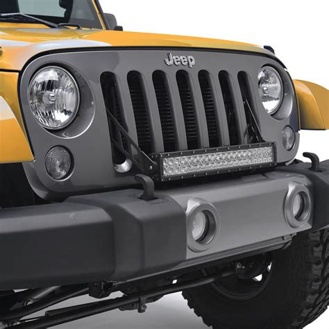 jeep jk led light bar 07 16 jeep wrangler jk 20 quot led light bar bracket