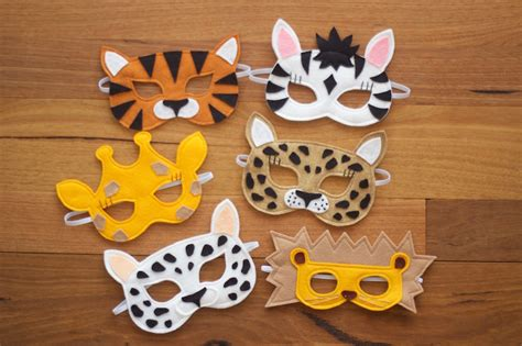 pattern for felt animal masks willow and stitch