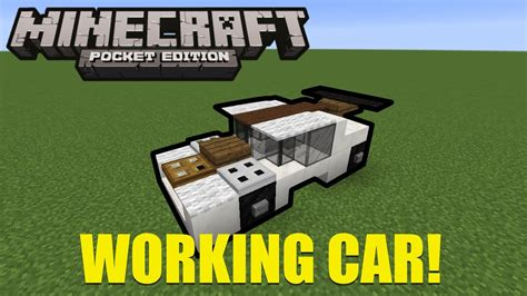 minecraft car how to build working cars in minecraft pe mcpe 0 16 0