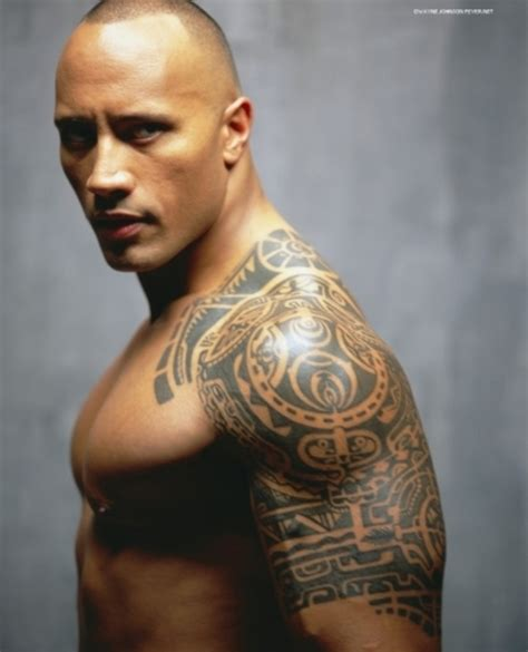 dwayne johnson tribal tattoo dwayne johnson the rock