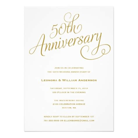 free 50th anniversary invitation templates 50th wedding anniversary invitation superdazzle custom