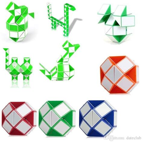 Rubik Snake Snack Ular Magic Promo smooth magic snake shape magic cube children intelligence educational toys puzzle magic stick