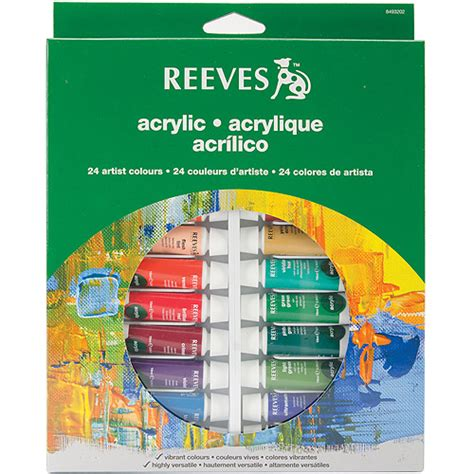 reeves assorted colors acrylic paint set 24pk walmart