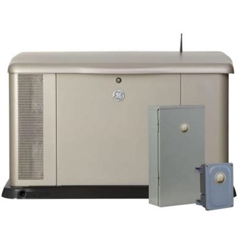 ge 20 000 watt air cooled home generator system with