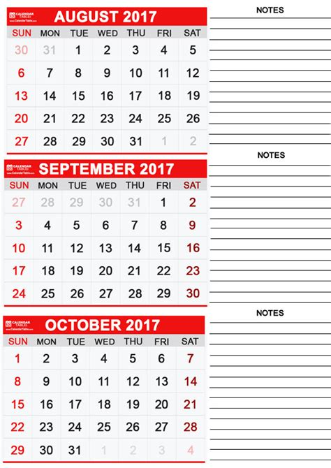 printable calendar sept oct 2017 printable september 2017 calendar calendar table