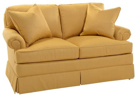 skirted sofa southwood gold skirted federal sofa