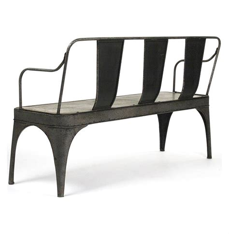 art deco bench seating french vintage reproduction art deco metal cafe bench kathy kuo home