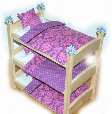 doll bunk beds triple doll bunk bed purple icious american made by