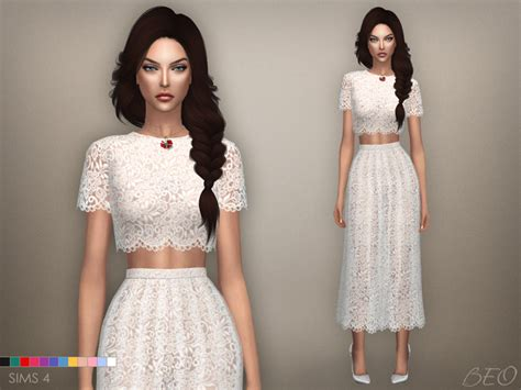 dresses sims 4 download my sims 4 blog lace midi dress by beo