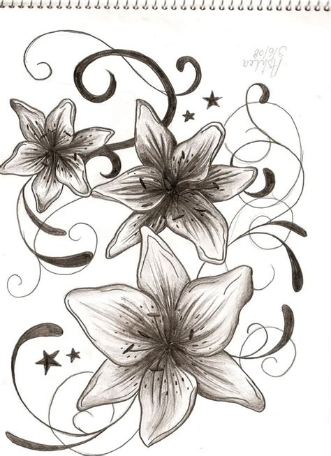 small tiger lily tattoo flower tattoos tiger filigree pictures www