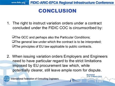 variations under design and build contract variations under the fidic form subject to eu procurement law