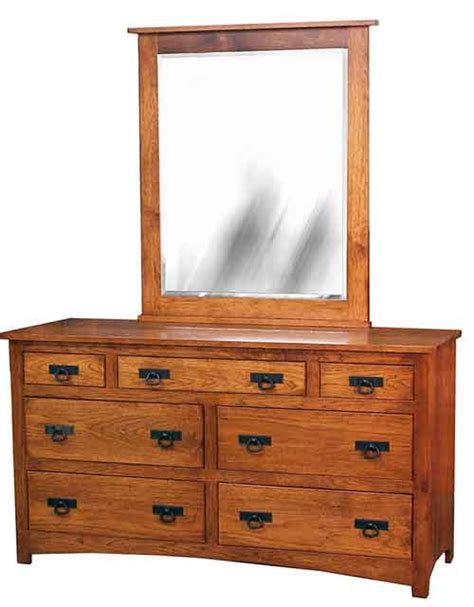 Country Mission Mule Dresser Mirror - the woodloft amish custom made dressers and mule chest