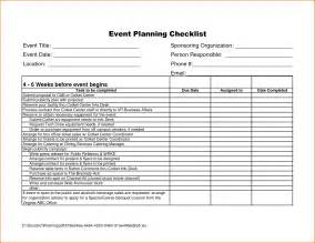 Sle Calendar Of Events Template by 7 Event Checklist Template Bookletemplate Org