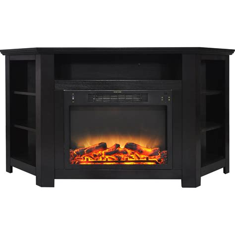 fireplace display cambridge stratford 56 in electric corner fireplace in