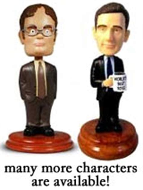 bobbleheads on dwight s desk the office bobbleheads dwight schrute michael and cast