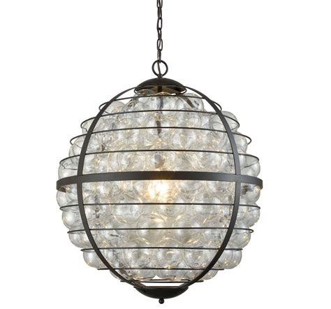 Modern Industrial Orb Glass Iron Apollo Chandelier Glass Orb Chandelier