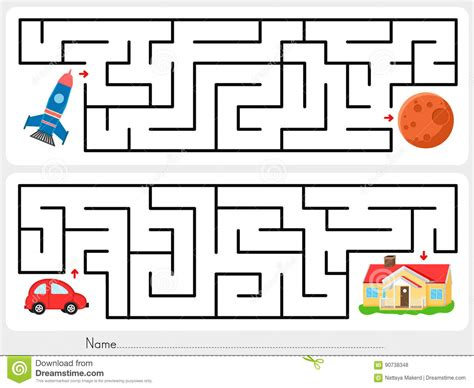 maze help rocket find the way to mars and help
