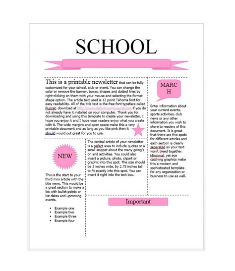 school newsletter template 50 free newsletter templates for work school and classroom