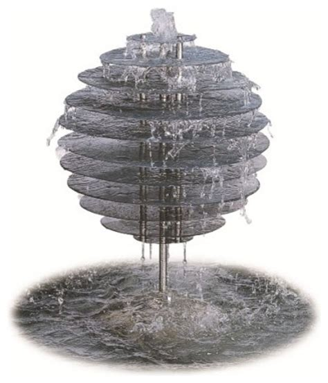 spiral orb water feature modern indoor fountains