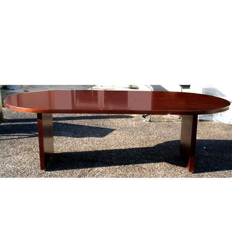 Vintage Conference Table 8ft Vintage Racetrack Mahogany Dining Conference Table Ebay