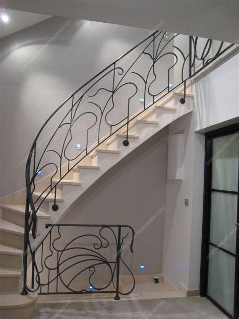 Fer Forge Stairs Design Res D Escalier En Fer Forg 233 Style Nouveau Mod 232 Le Liane Escaliers