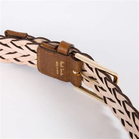Leigh Dolce Belt by Paul Smith S Taupe Leather Plaited Belt In Multicolor