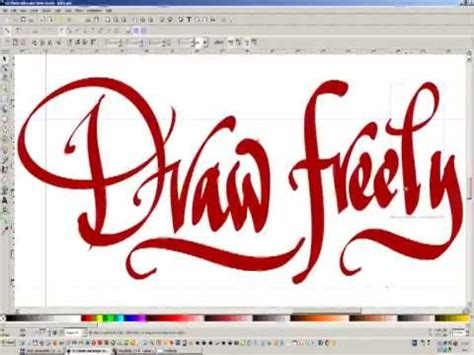 inkscape tutorial calligraphy inkscape draw freely digital calligraphy youtube