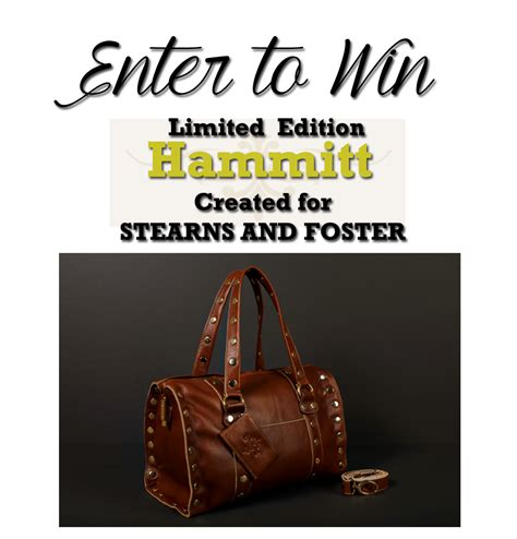 Stearns And Foster Sweepstakes - hammitt handbags and stearns foster give away www beingmelody com
