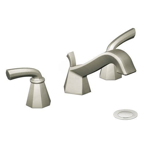 Shop Moen Felicity Brushed Nickel 2 Handle Widespread Moen Brushed Nickel Bathroom Faucet
