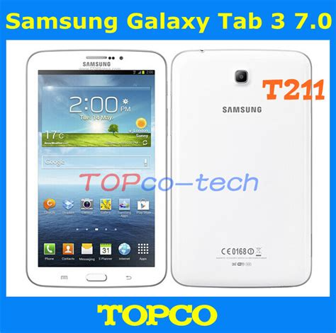 Samsung Tab 3 Wifi Terbaru samsung galaxy tab 3 7 0 original unlocked android t211 3g dual mobile phone tablet 7 0 quot 3