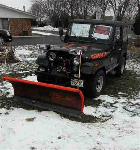 Plow Jeep Buy Used 1985 Jeep Cj7 Renegade Plow 4 Speed Manual In