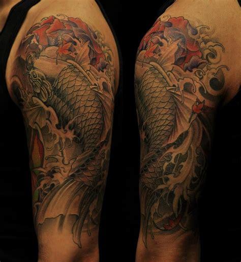 koi half sleeve tattoo designs chronic ink toronto half sleeve koi fish