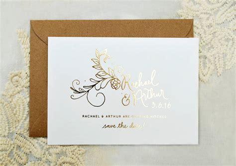 foil wedding invitations flora foil wedding invitation by nettle notonthehighstreet