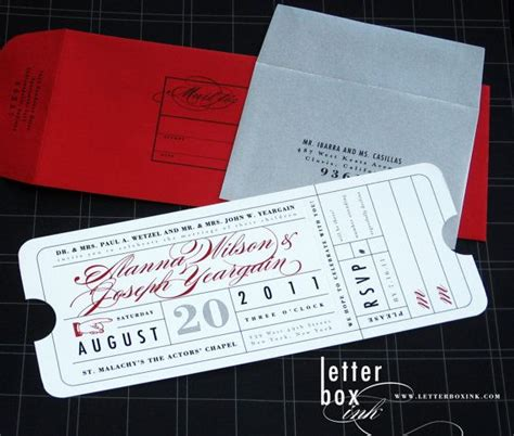 printed ticket font 249 best images about clever invitations on pinterest