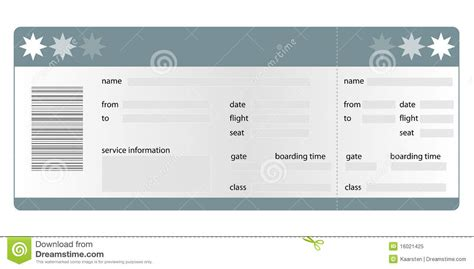 boarding card templates boarding pass blank stock vector illustration of pass