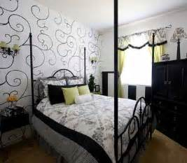 Wall Decor Ideas For Bedroom Bedroom Wallpaper In Black White And Gray One Wall Decoration