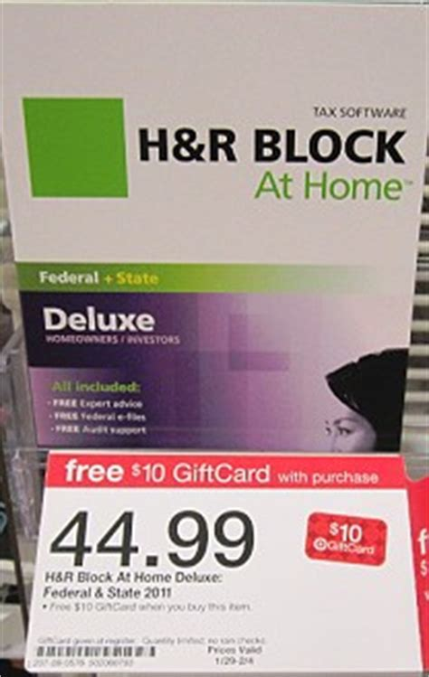 unadvertised gift card deal on h r block software totallytarget com - Is There Tax On Gift Cards