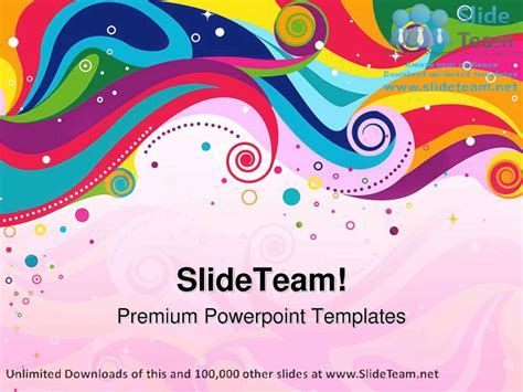 colorful templates for powerpoint colorful wave abstract powerpoint templates themes and