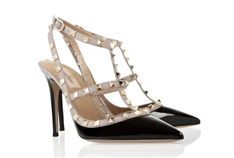 Valentino Studed wears valentino studded heels on a date