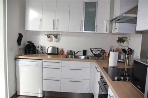 cuisine blanche bois et inox photo 1 6 3509190
