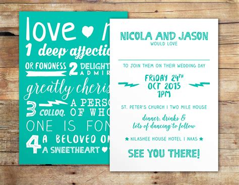 quirky design definition what s love wedding invitation by little ivory
