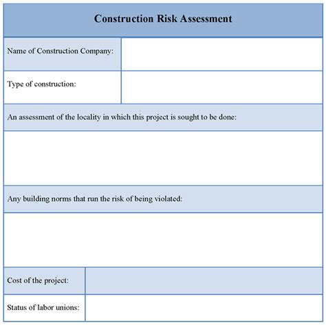risk analysis template events sle risk analysis template