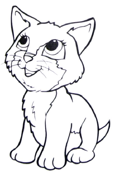 cat coloring pages online printable kids colouring pages