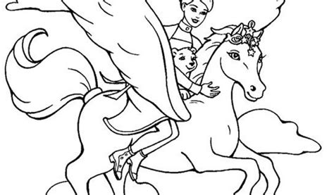 barbie horse coloring pagesfree coloring pages for kids