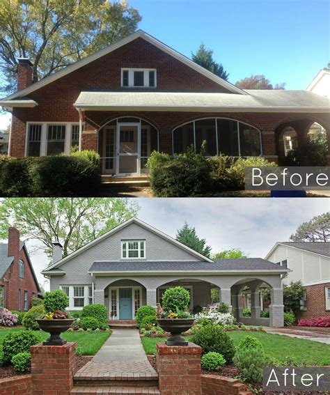 brick house renovation before and after 25 best ideas about painted brick houses on pinterest brick exterior makeover